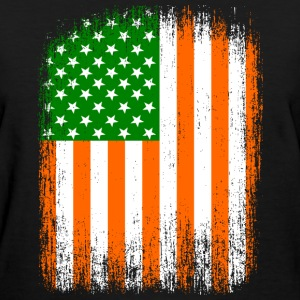 Irish American Flag Women's T-Shirts - Women's T-Shirt