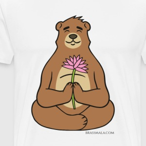 Brassy Bear Lotus - Men's Premium T-Shirt