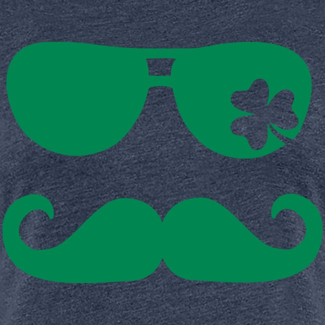 Women's Glasses & Mustache St. Pat's - Heather