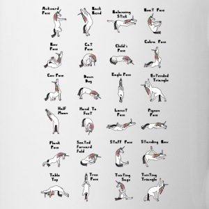24 Yoga Unicorn Poses Mugs & Drinkware - Coffee/Tea Mug