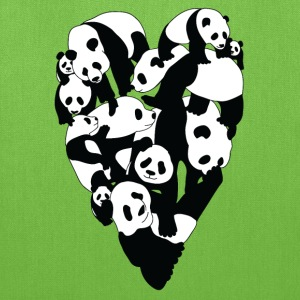 Panda Heart Bags & backpacks - Tote Bag