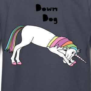 Yoga Unicorn Down Dog Pose Kids' Shirts - Kids' Long Sleeve T-Shirt