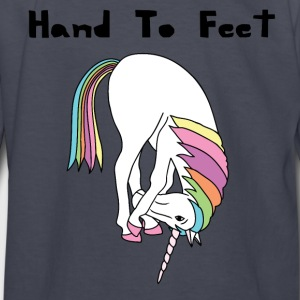 Yoga Unicorn Hand To Feet Pose Kids' Shirts - Kids' Long Sleeve T-Shirt