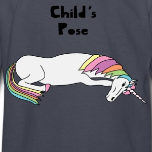 Yoga Unicorn Child's Pose  Kids' Shirts - Kids' Long Sleeve T-Shirt