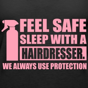 Feel safe sleep with a hairdresser Tanks - Women's Premium Tank Top