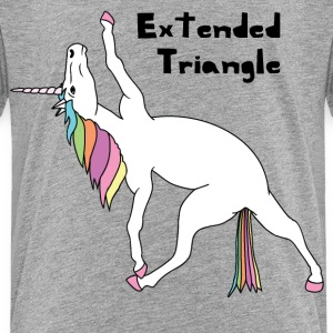 Yoga Unicorn Extended Triangle Pose Baby & Toddler Shirts - Toddler Premium T-Shirt