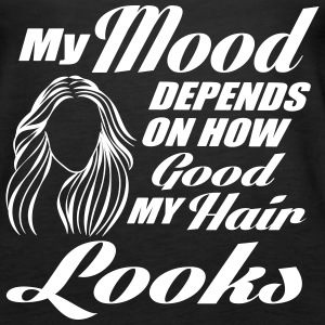 my mood depends on my hair Tanks - Women's Premium Tank Top