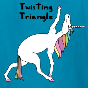 Yoga Unicorn Twisting Triangle Pose Kids' Shirts - Kids' T-Shirt