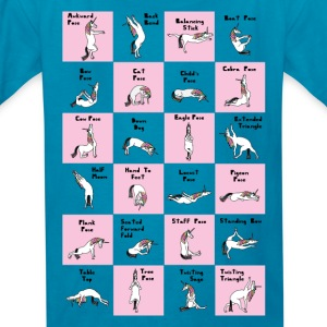 24 Yoga Unicorn Poses, Pink Kids' Shirts - Kids' T-Shirt