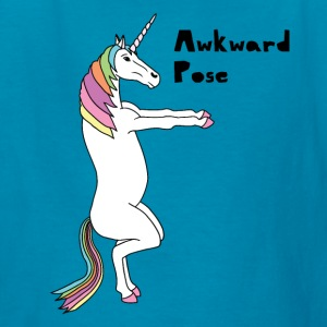 Yoga Unicorn Awkward Pose Kids' Shirts - Kids' T-Shirt