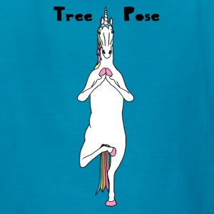 Yoga Unicorn Tree Pose Kids' Shirts - Kids' T-Shirt