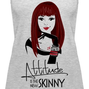 attitude is the new skinny.png Tanks - Women's Premium Tank Top