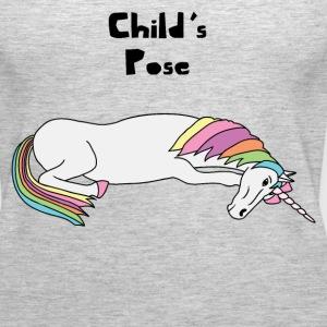 Yoga Unicorn Child's Pose  Tanks - Women's Premium Tank Top