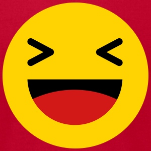 Haha funny emoticon Facebook T-Shirts - Men's T-Shirt by American Apparel