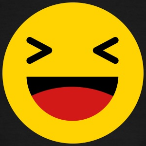 Haha funny emoticon Facebook T-Shirts - Men's Ringer T-Shirt