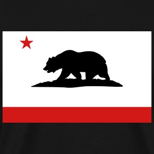 Flag of California T-Shirts - Men's Premium T-Shirt