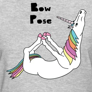 Yoga Unicorn Bow Pose Women's T-Shirts - Women's T-Shirt