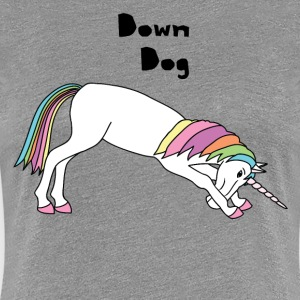 Yoga Unicorn Down Dog Pose Women's T-Shirts - Women's Premium T-Shirt