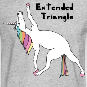 Yoga Unicorn Extended Triangle Pose Long Sleeve Shirts - Men's Long Sleeve T-Shirt