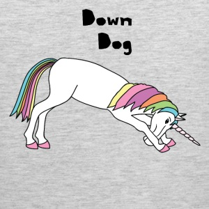 Yoga Unicorn Down Dog Pose Tank Tops - Men's Premium Tank