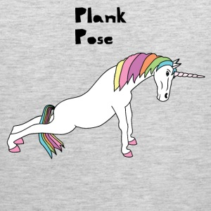 Yoga Unicorn Plank Pose Tank Tops - Men's Premium Tank