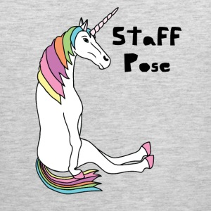 Yoga Unicorn Staff Pose Tank Tops - Men's Premium Tank