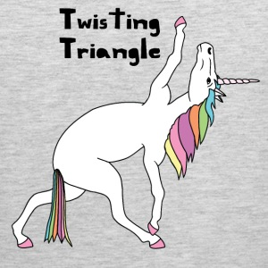 Yoga Unicorn Twisting Triangle Pose Tank Tops - Men's Premium Tank