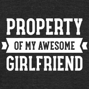 Property Of My Awesome Girlfriend T-Shirts - Unisex Tri-Blend T-Shirt by American Apparel