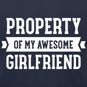 Property Of My Awesome Girlfriend T-Shirts - Men's T-Shirt by American Apparel