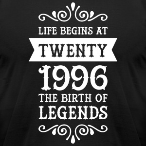 Life Begins At Twenty - 1996 The Birth Of Legends T-Shirts - Men's T-Shirt by American Apparel