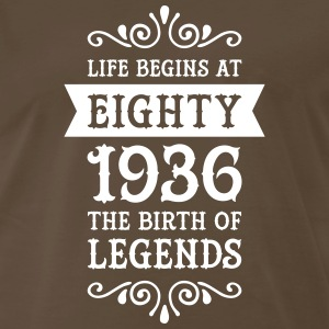 Life Begins At Eighty - 1936 The Birth Of Legends T-Shirts - Men's Premium T-Shirt