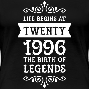 Life Begins At Twenty - 1996 The Birth Of Legends Women's T-Shirts - Women's Premium T-Shirt
