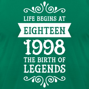 Life Begins At Eighteen -1998 The Birth Of Legends T-Shirts - Men's T-Shirt by American Apparel