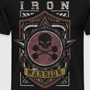 Iron Warrior (Skull Shield) T-Shirts - Men's Premium T-Shirt