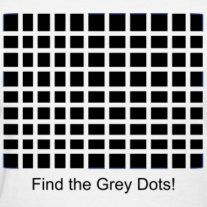 Grey Dot Illusion  - Women's T-Shirt