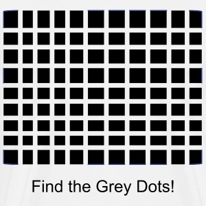 Grey Dot Illusion for men - Men's Premium T-Shirt