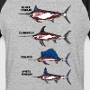 Unicorn In Fish Types T-Shirts - Baseball T-Shirt