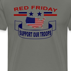 red_shirt_fridays_support_our_troops - Men's Premium T-Shirt