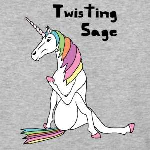 Yoga Unicorn Twisting Sage Pose T-Shirts - Baseball T-Shirt
