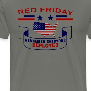red_friday__remember_everyone_deployed_t - Men's Premium T-Shirt