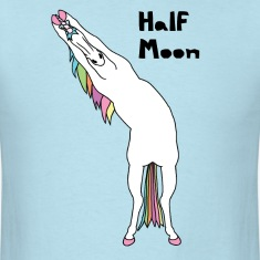 Yoga Unicorn Half Moon Pose T-Shirts