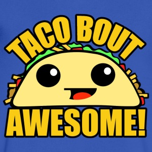 Taco Bout Awesome T-Shirts - Men's V-Neck T-Shirt by Canvas