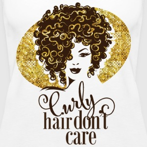 curly hair don't care - Women's Premium Tank Top