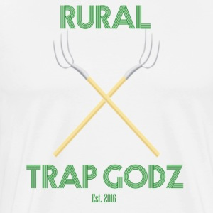 Rural Trap Godz Men's Shears Tee (White) - Men's Premium T-Shirt