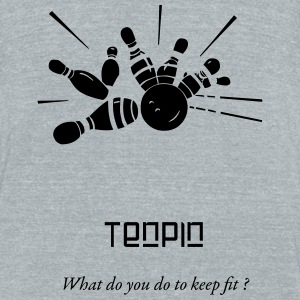 Tenpin - Unisex Tri-Blend T-Shirt by American Apparel