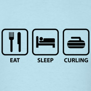 Eat Sleep Curl - Men's T-Shirt