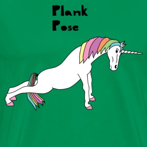 Yoga Unicorn Plank Pose T-Shirts - Men's Premium T-Shirt