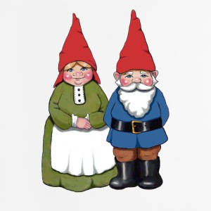 Gnome Couple: Original Illustration - Mouse pad Vertical