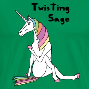 Yoga Unicorn Twisting Sage Pose T-Shirts - Men's Premium T-Shirt