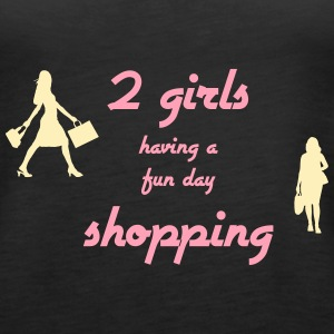 2 Girls Shopping - Women's Premium Tank Top